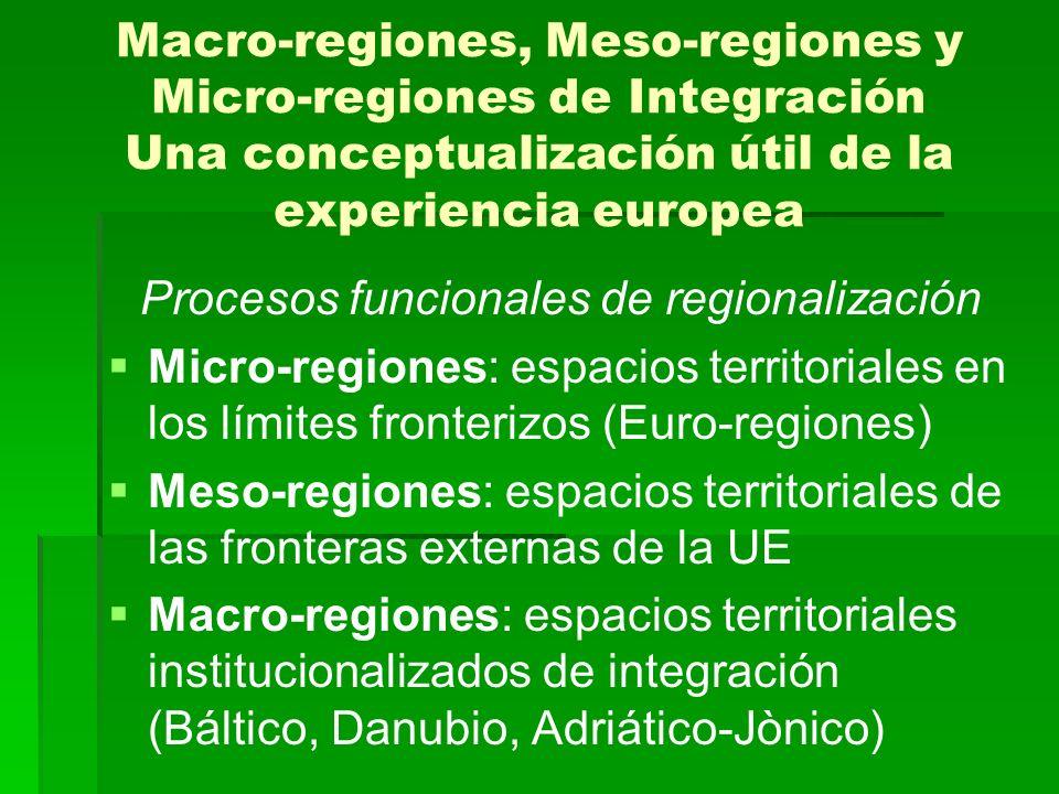 Procesos funcionales de regionalización