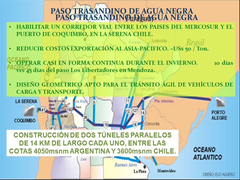 PASO TRASANDINO DE AGUA NEGRA PASO TRASANDINO DE AGUA NEGRA