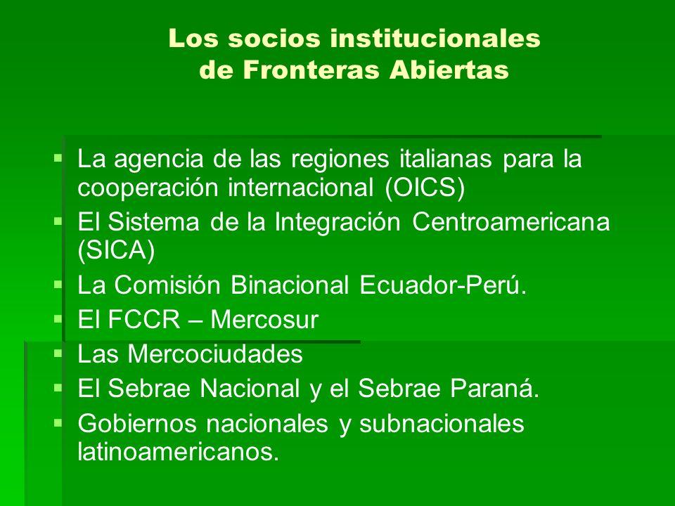 Los socios institucionales de Fronteras Abiertas