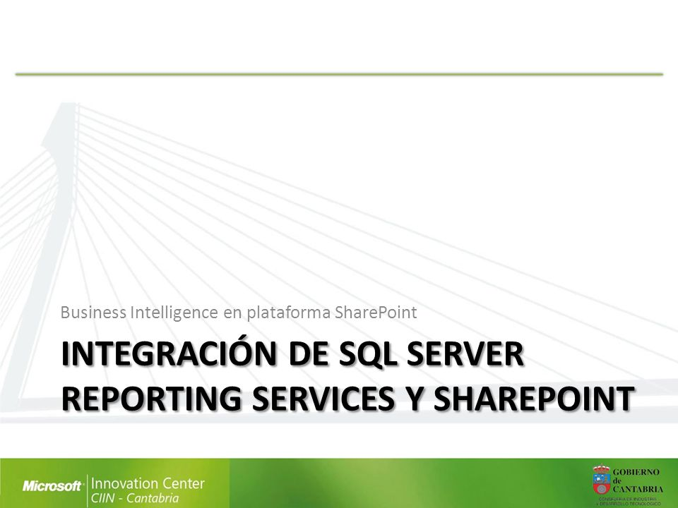 Integración de SQL Server Reporting Services y sharepoint