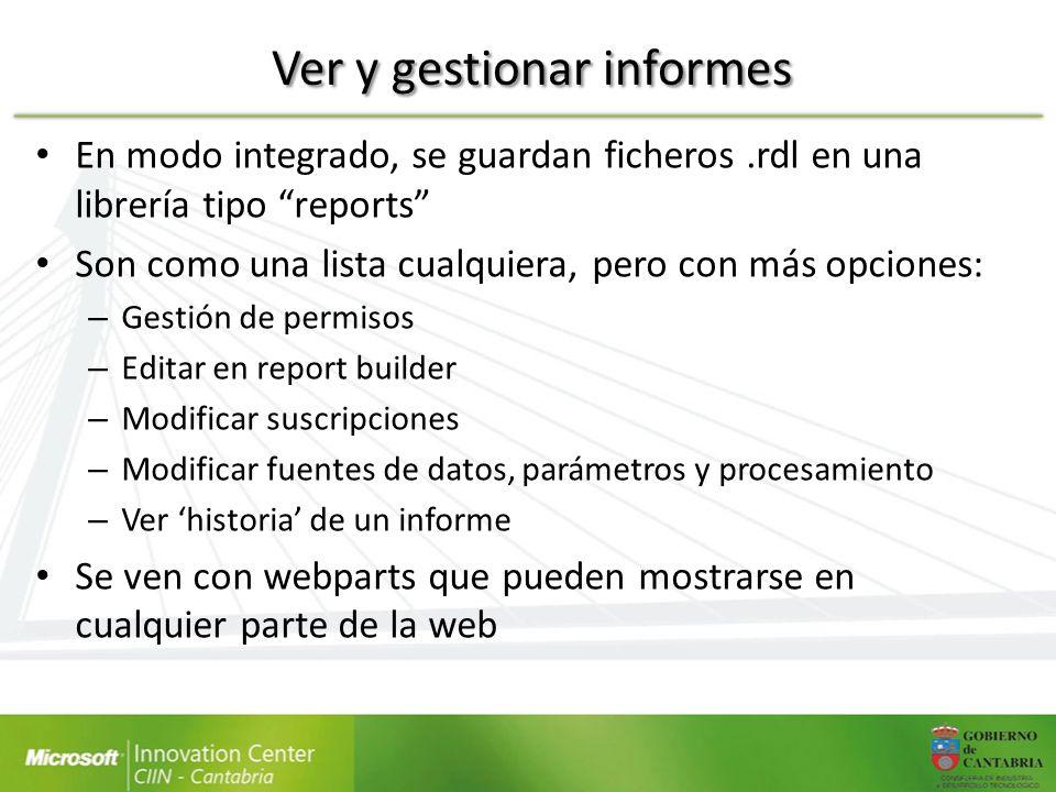 Ver y gestionar informes