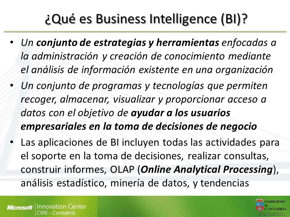 ¿Qué es Business Intelligence (BI)