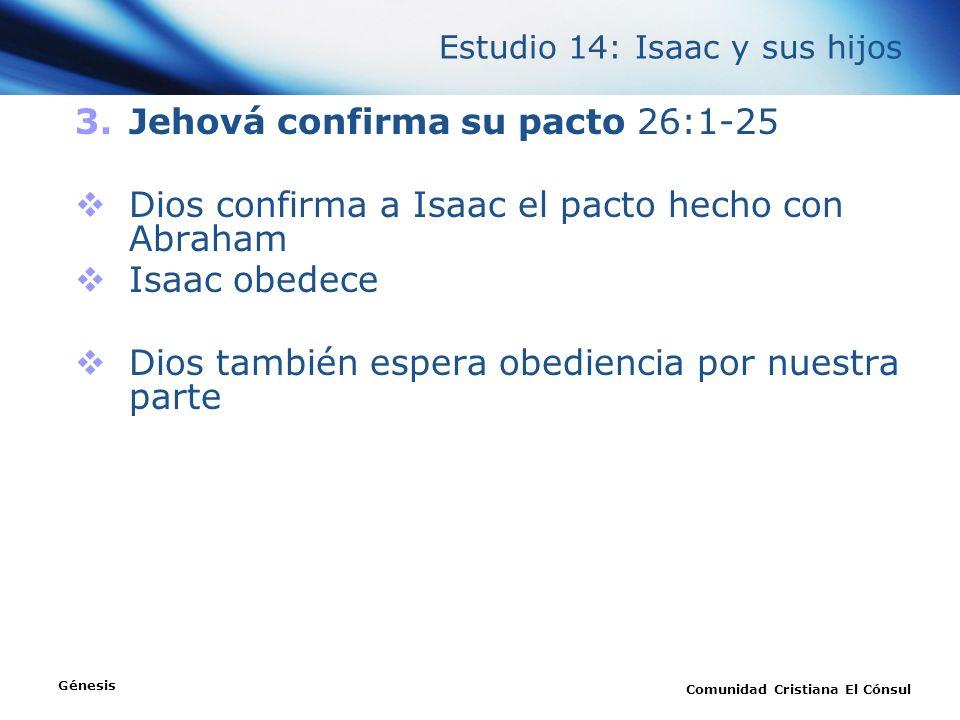 Estudio 14: Isaac y sus hijos