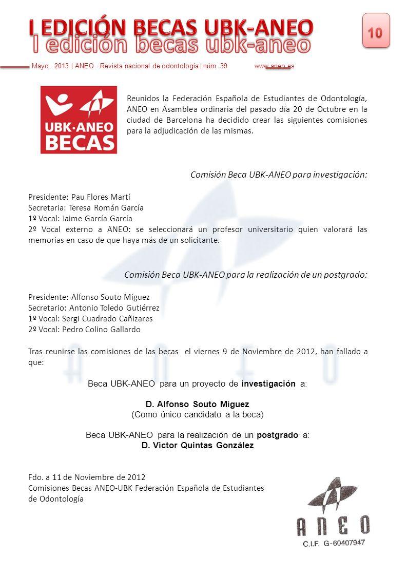 I edición becas ubk-aneo D. Víctor Quintas González
