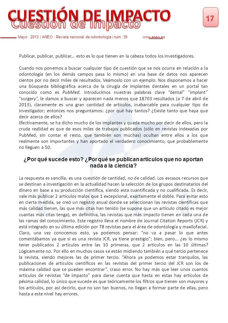 CUESTIÓN DE IMPACTO Cuestión de impacto 17