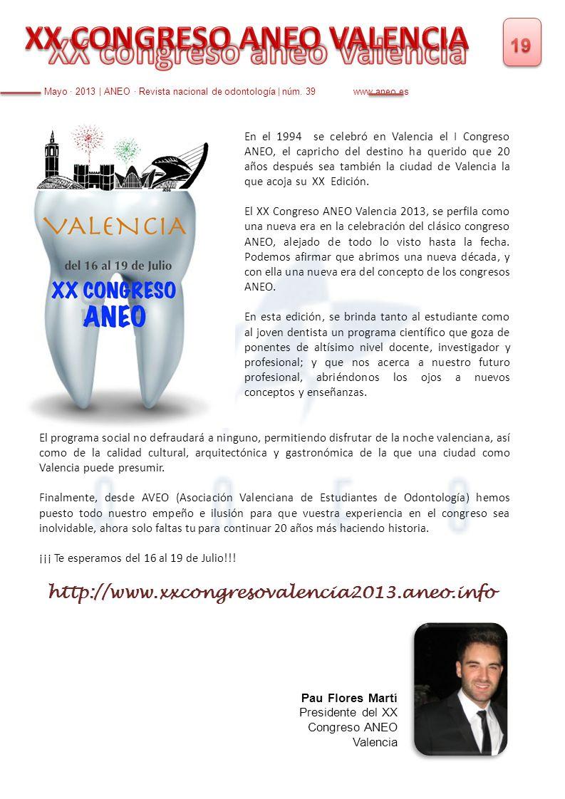 XX CONGRESO ANEO VALENCIA XX congreso aneo Valencia
