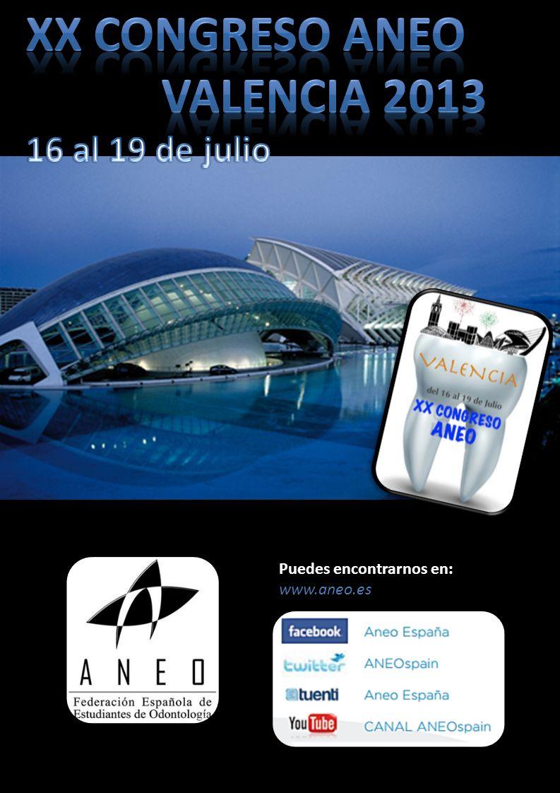 XX Congreso aneo Valencia 2013 16 al 19 de julio