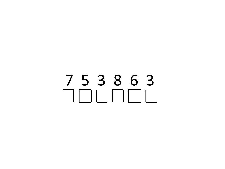 7 5 3 8 6 3