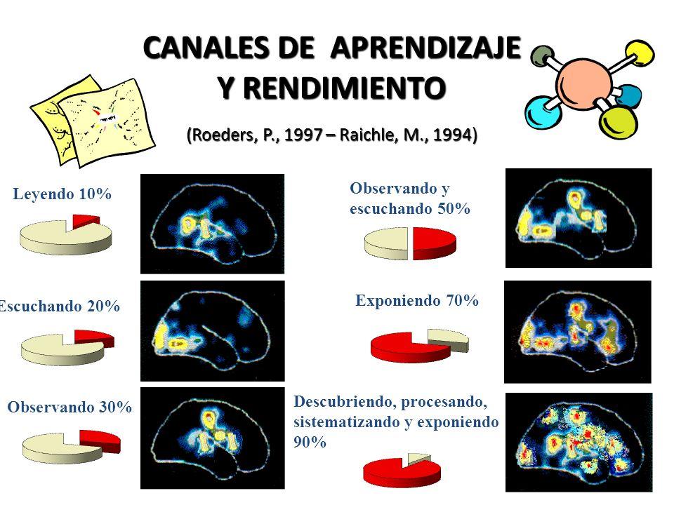 CANALES DE APRENDIZAJE Y RENDIMIENTO