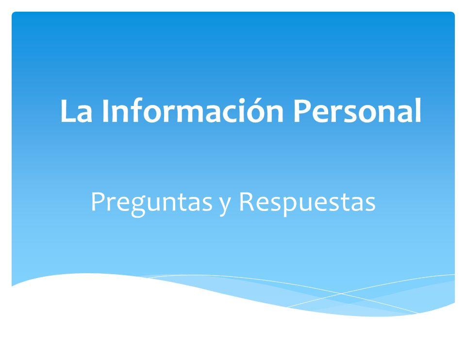 La Información Personal