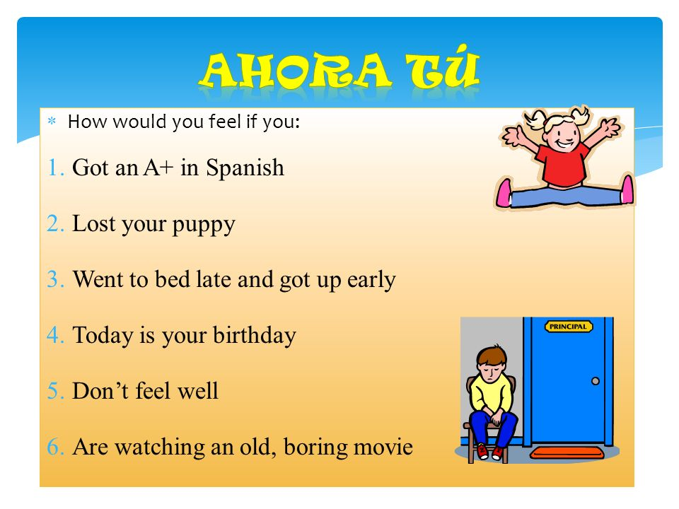 Ahora Tú Got an A+ in Spanish Lost your puppy