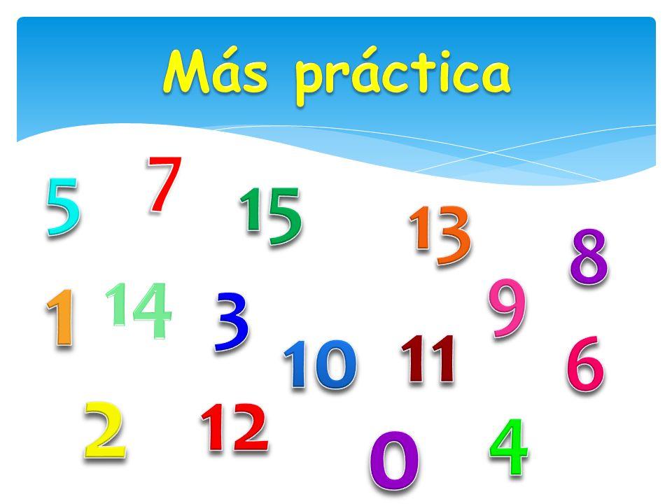 Más práctica 7 5 15 13 8 1 14 9 3 11 10 6 2 12 4