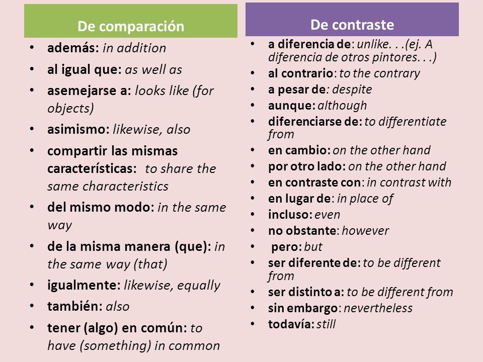 De comparación De contraste
