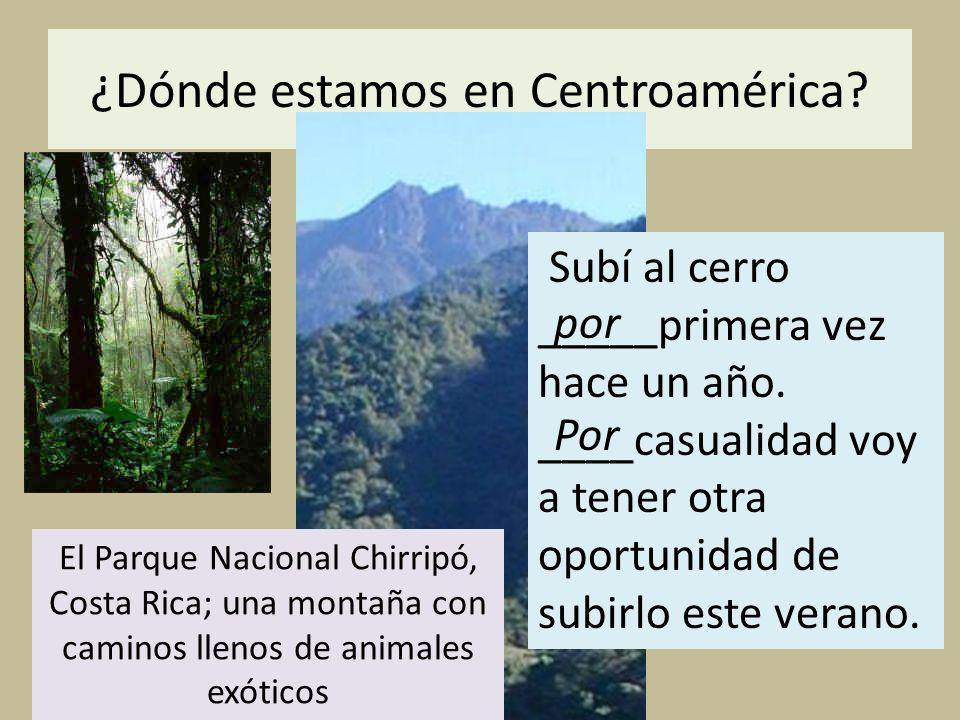 ¿Dónde estamos en Centroamérica
