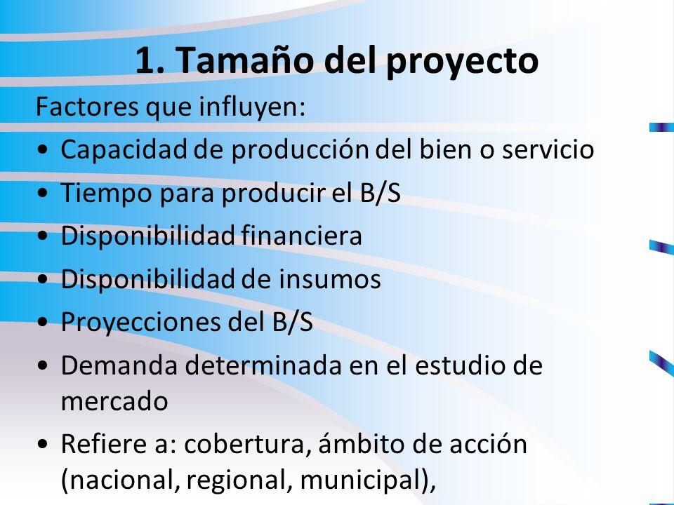 Estudio t cnico formulaci n y evaluaci n de proyectos for Proyecto tecnico ejemplos