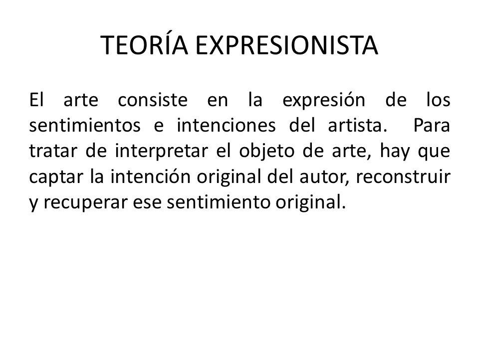 TEORÍA EXPRESIONISTA