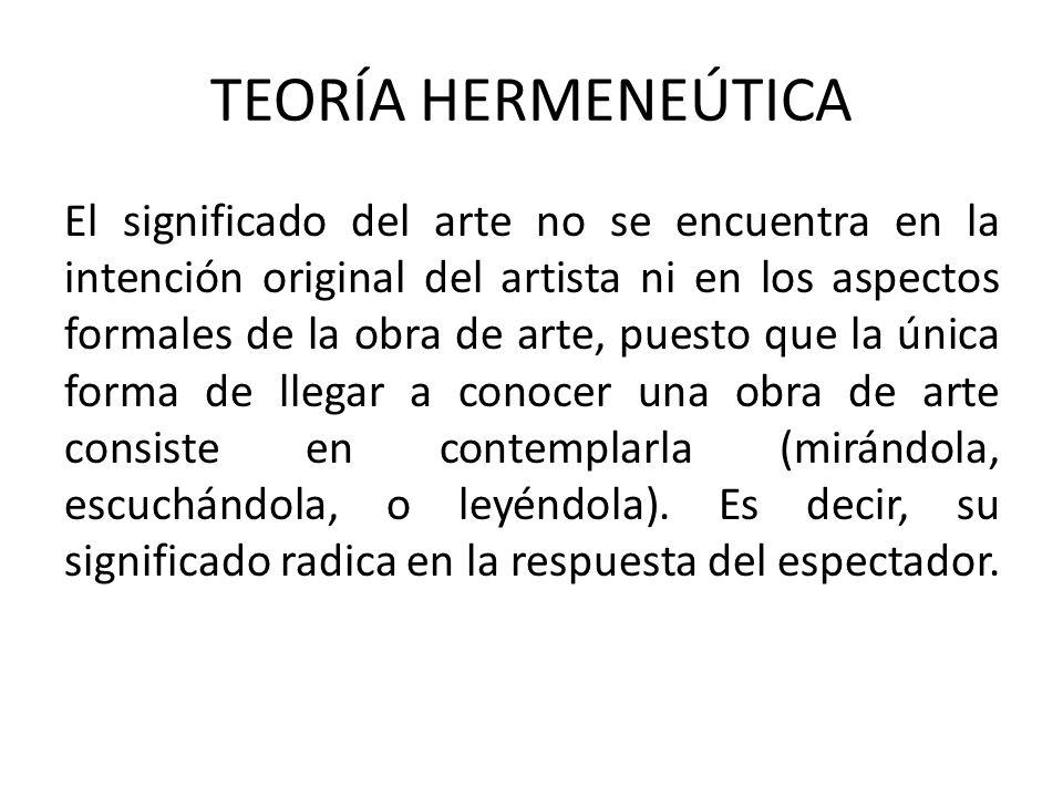 TEORÍA HERMENEÚTICA