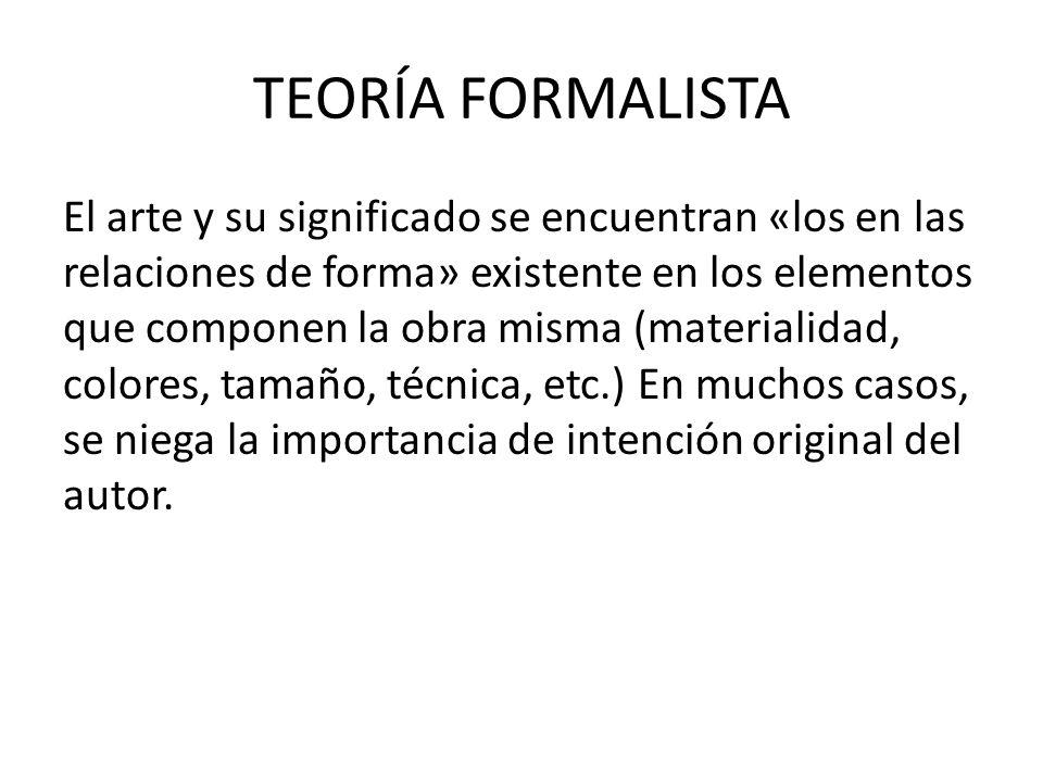 TEORÍA FORMALISTA