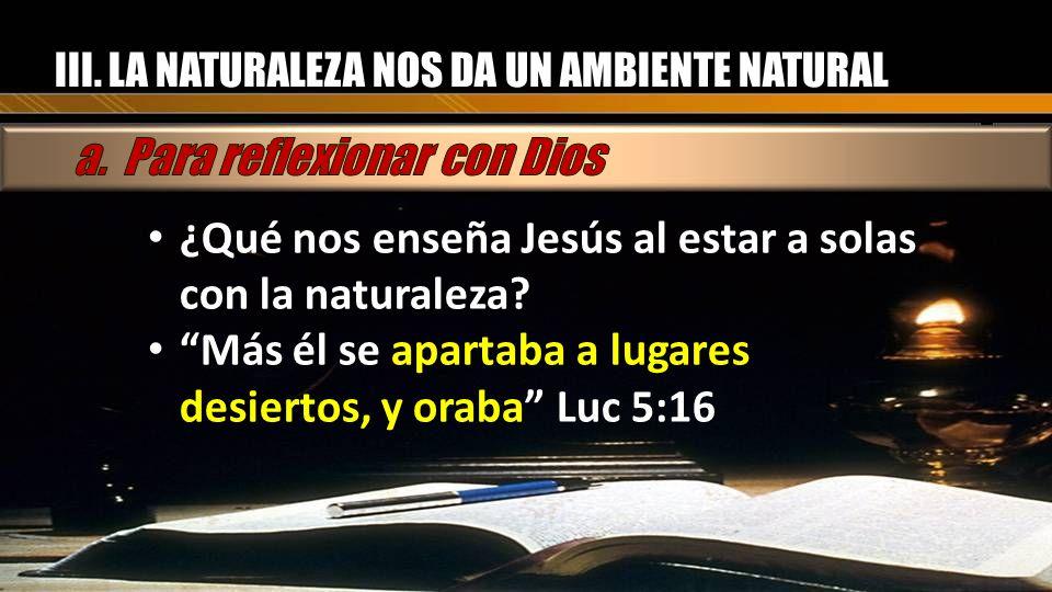 a. Para reflexionar con Dios