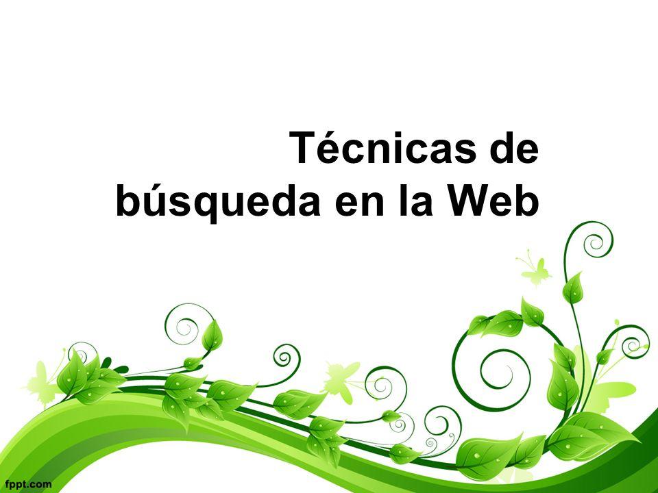 Técnicas de búsqueda en la Web