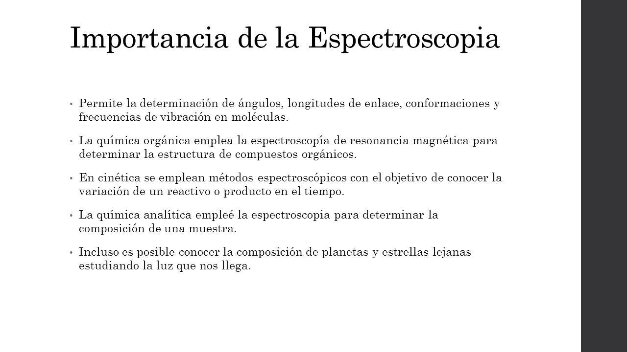 Importancia de la Espectroscopia