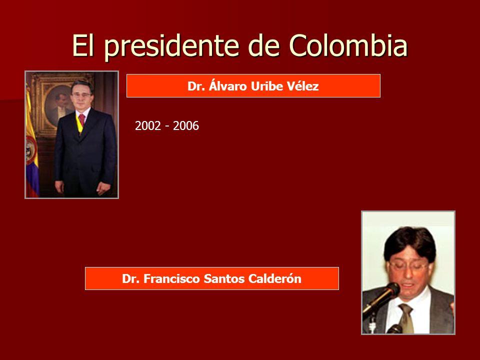 El presidente de Colombia