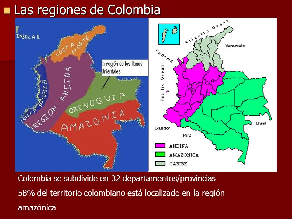 Las regiones de Colombia