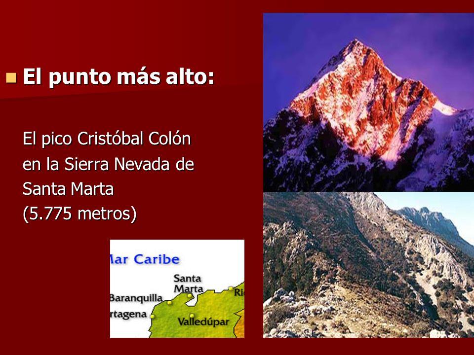El pico Cristóbal Colón