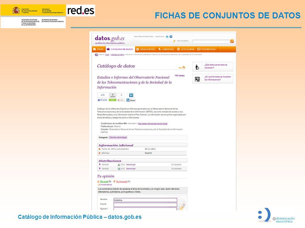 FICHAS DE CONJUNTOS DE DATOS