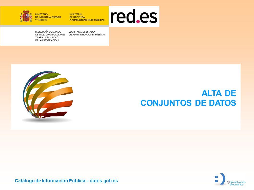 ALTA DE CONJUNTOS DE DATOS