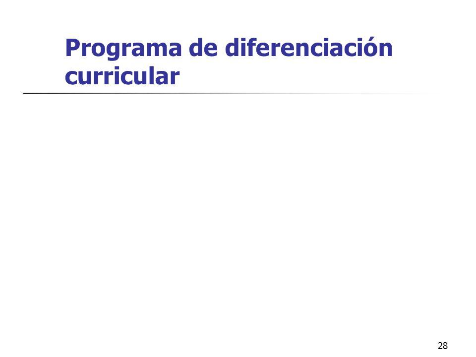 Programa de diferenciación curricular