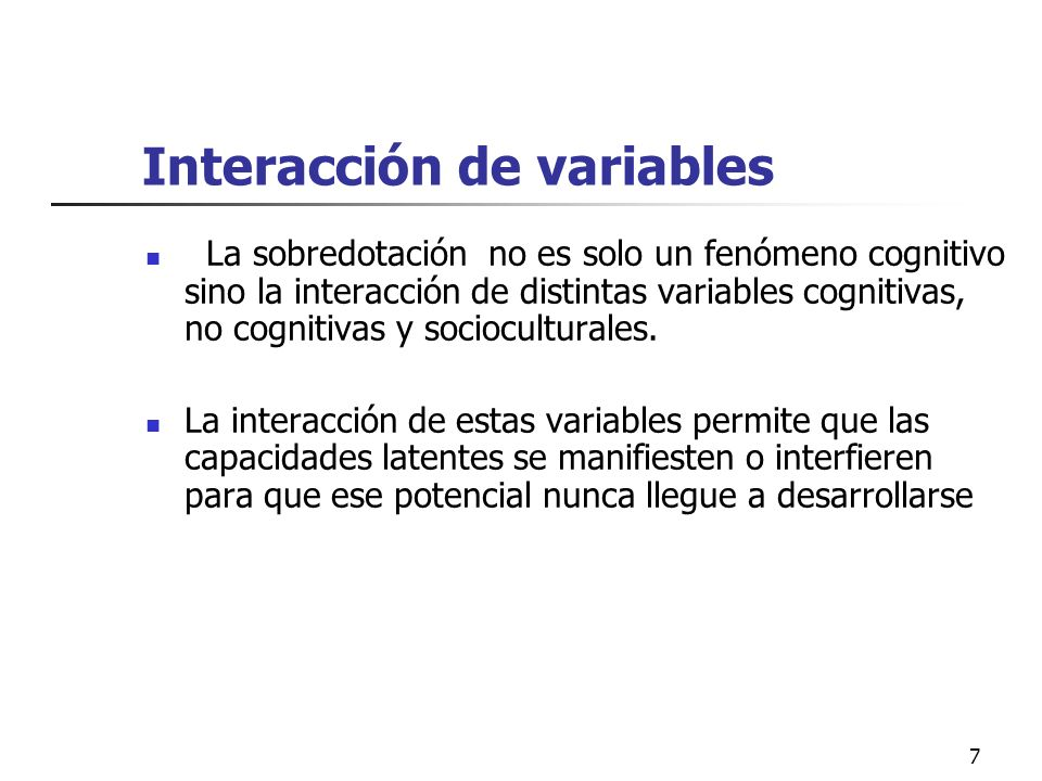 Interacción de variables
