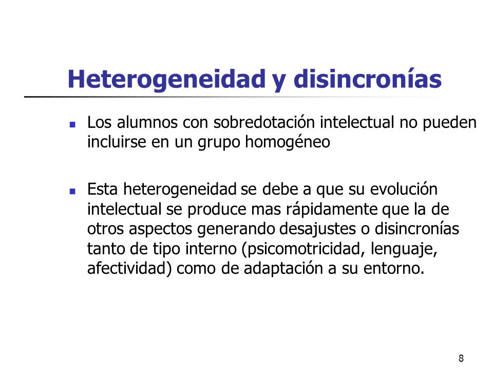 Heterogeneidad y disincronías