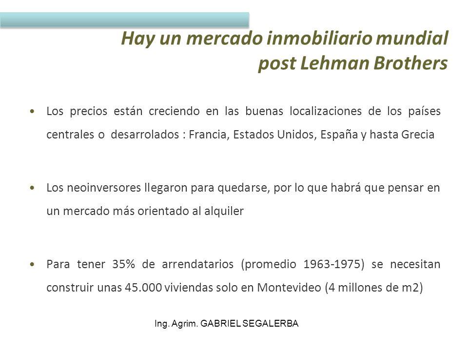 Hay un mercado inmobiliario mundial post Lehman Brothers
