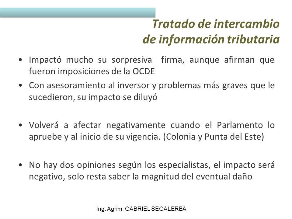Tratado de intercambio de información tributaria