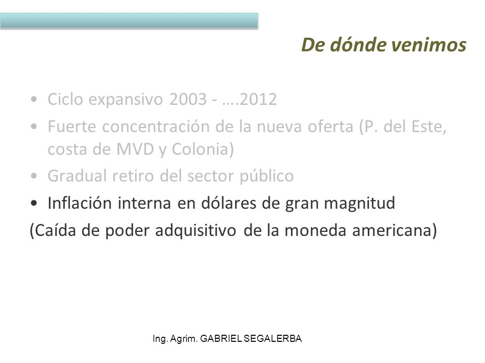 Ing. Agrim. GABRIEL SEGALERBA
