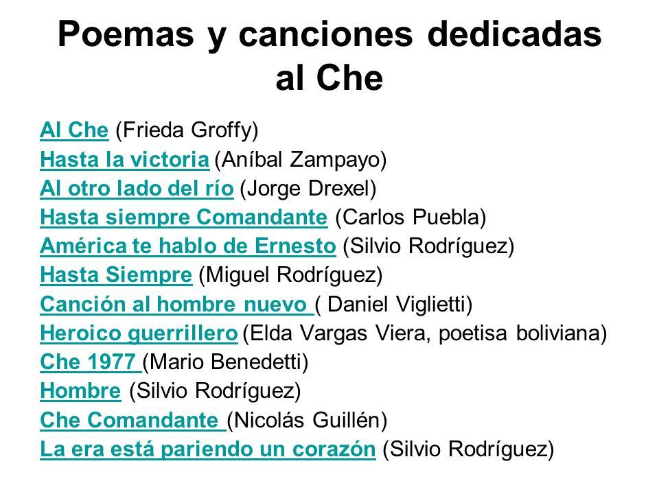 Poemas y canciones dedicadas al Che