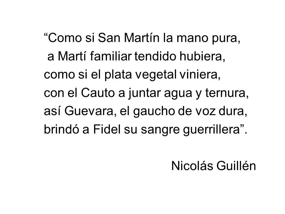 Como si San Martín la mano pura,