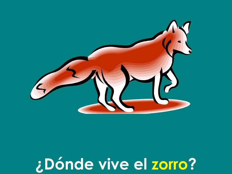 ¿Dónde vive el zorro