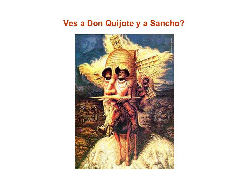 Ves a Don Quijote y a Sancho