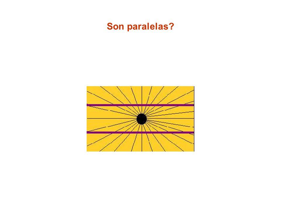 Son paralelas