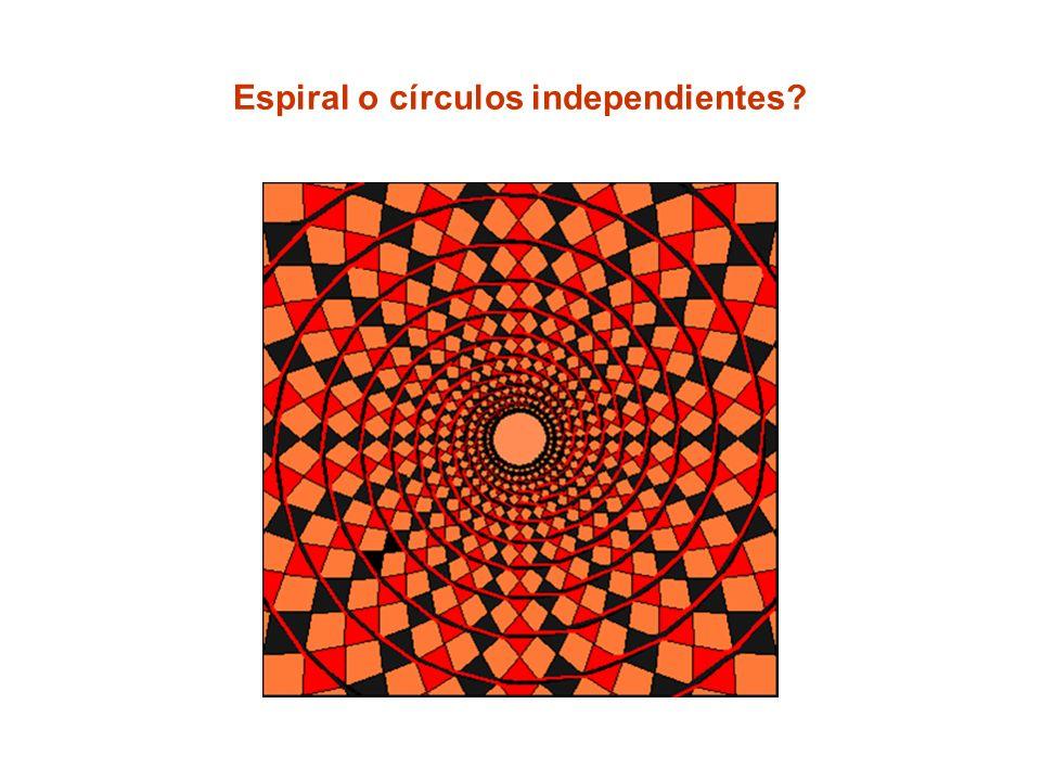 Espiral o círculos independientes