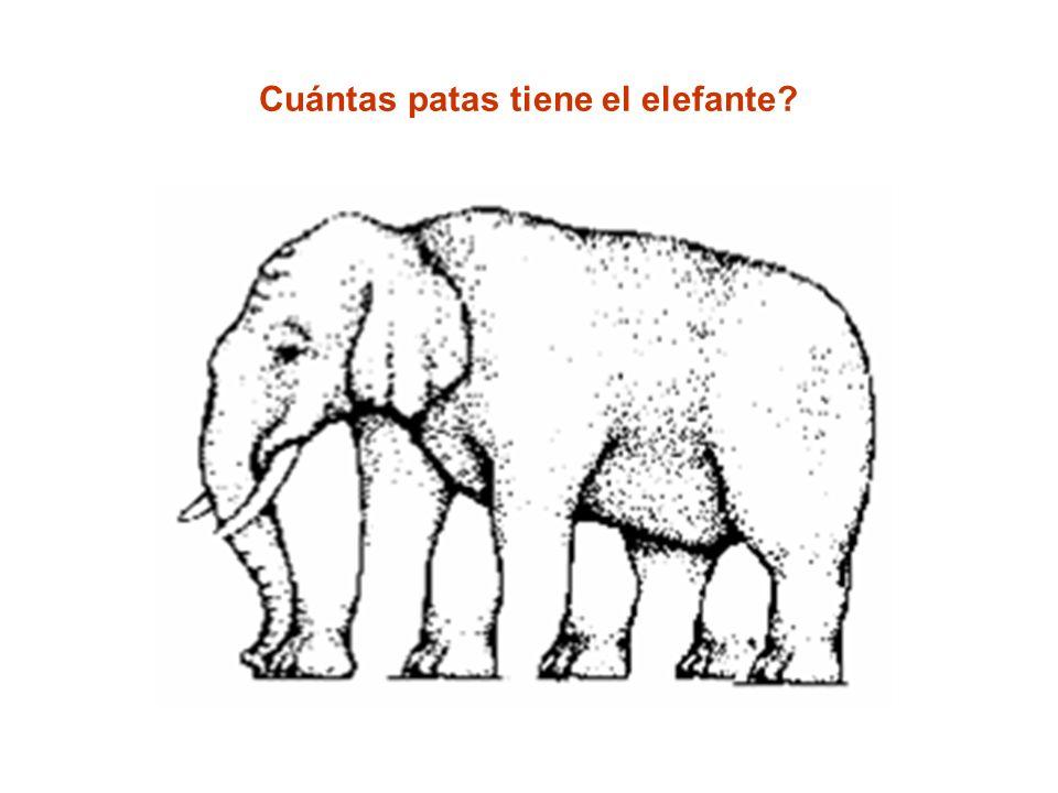 Cuántas patas tiene el elefante