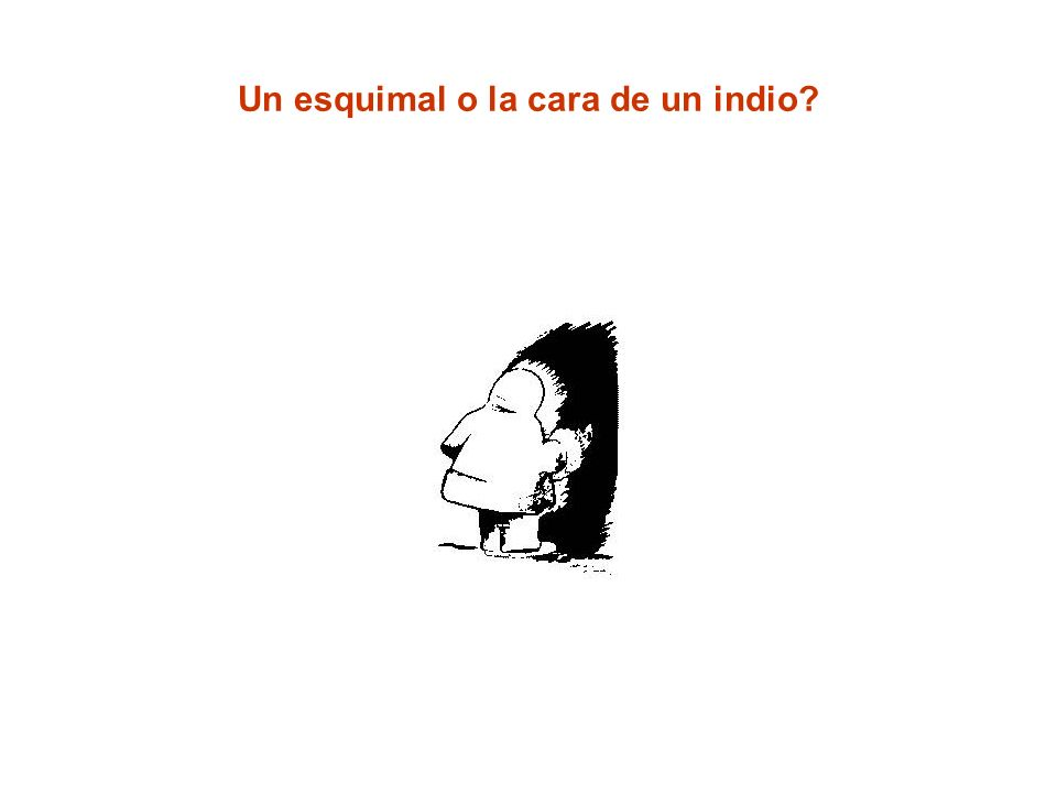Un esquimal o la cara de un indio