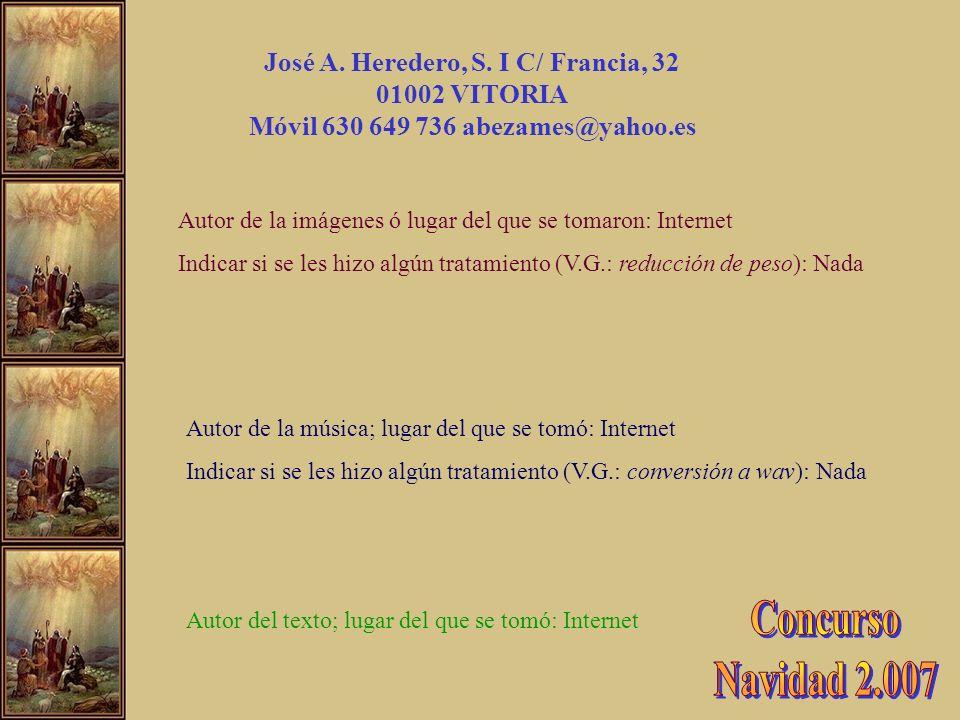 Concurso Navidad 2.007 José A. Heredero, S. I C/ Francia, 32