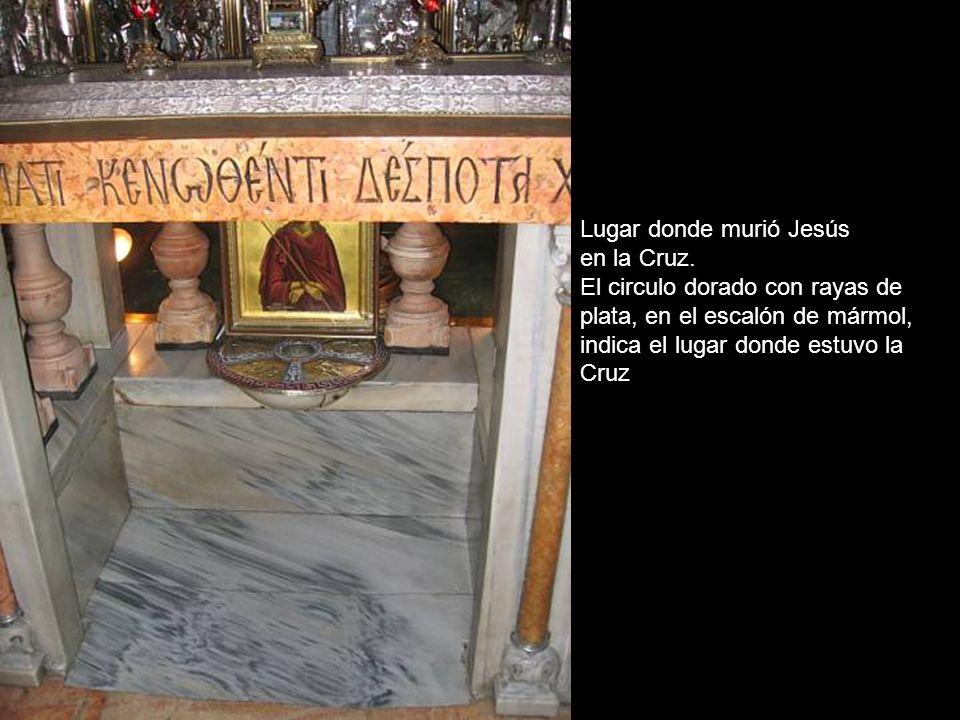 Lugar donde murió Jesús