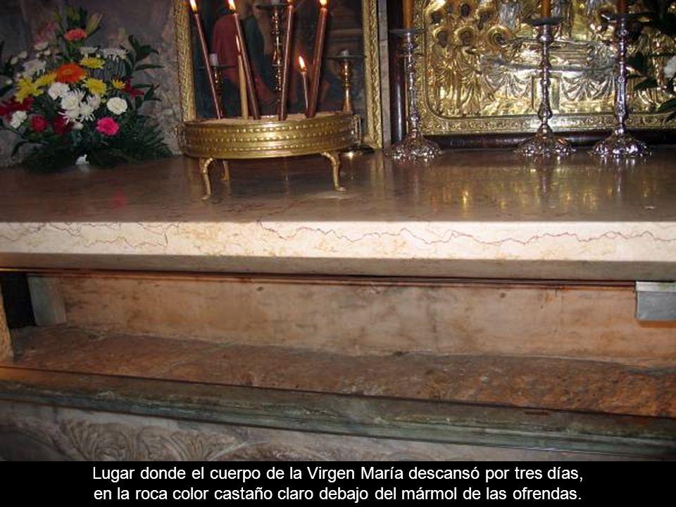 Lugar donde el cuerpo de la Virgen María descansó por tres días,