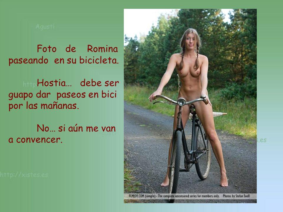 Foto de Romina paseando en su bicicleta