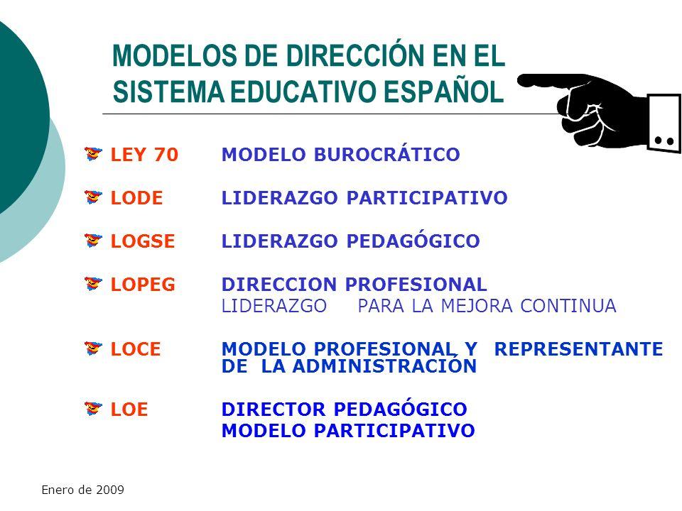 MODELOS DE DIRECCIÓN EN EL SISTEMA EDUCATIVO ESPAÑOL