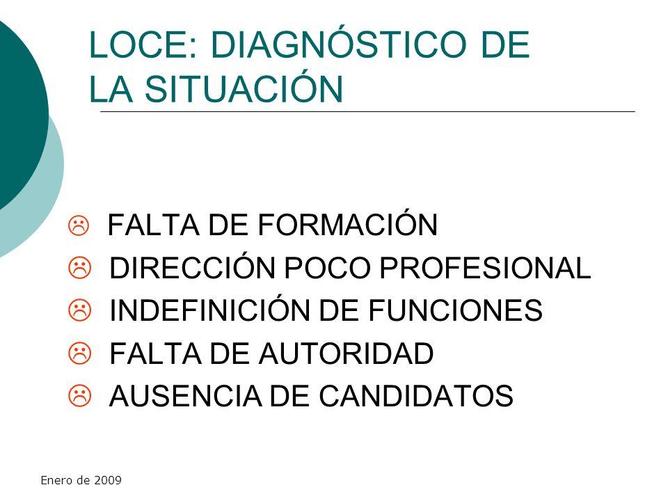 LOCE: DIAGNÓSTICO DE LA SITUACIÓN